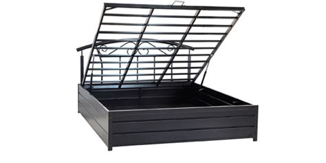 king bed with storage by furniturekraft by furniturekraft buy queen sized metal bed with hydrolic storage by