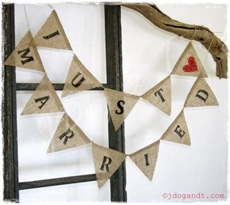 just married bunting template just married wedding bunting burlap hessian vintage photo