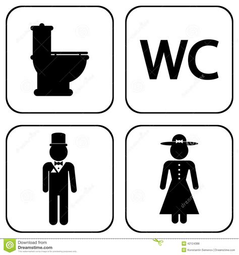 Bathroom Design Center by Wc Icons Stock Vector Image 42124388