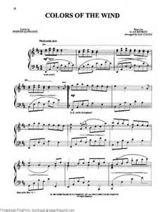 colors of the wind flute sheet piano sheet colors of the wind pocahontas