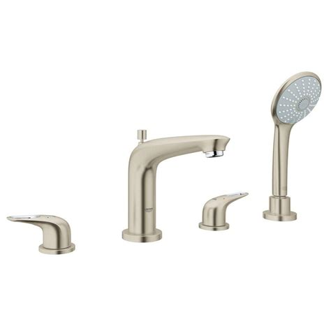 Tub Faucet With Handheld Shower by Glacier Bay Lyndhurst 2 Handle Deck Mount Tub Faucet