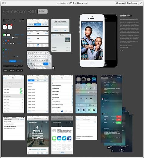 ios design templates free easily mock up ios 7 apps interfaces with a free ios 7