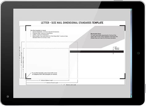 letter size mail dimensional standards template letter size mail dimensional standards template images