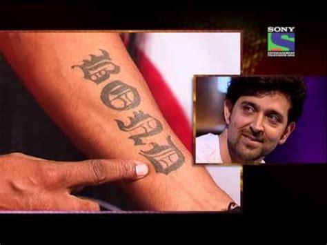 tattoo on hrithik roshan hand hrithik s tattoos all over hrithik roshan youtube
