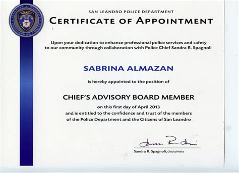 Appointment Certificate Template | awards certifications