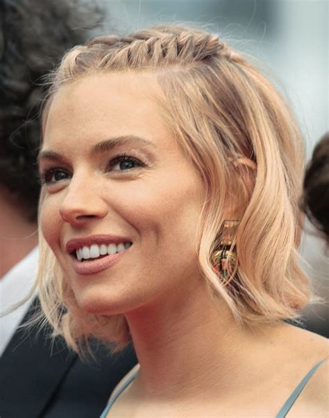 whatbhair texture does sienna miller have the perfect half up hairstyle for every length and texture