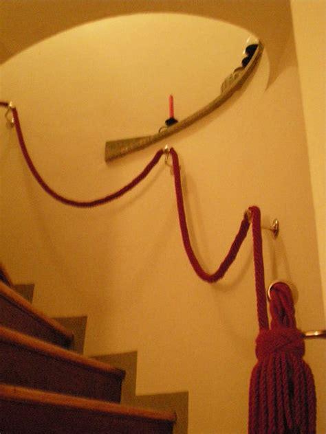 corrimano corda corrimano per scale interne in legno scala lineare con