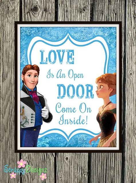 Is An Open Door Karaoke by Free Frozen Inspired Karaoke Printables Printables Wedding And Frozen