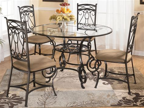 dining room stunning round glass dinette sets round glass