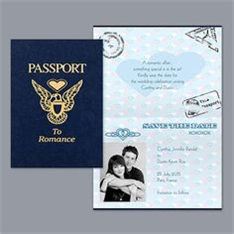 save the date passport template unique and customizable passport tropical