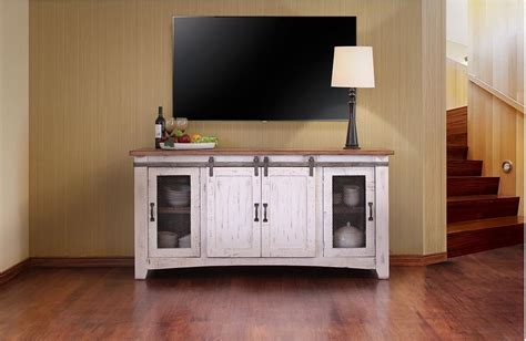 American Furniture Warehouse Tv Stands by International Furniture Direct Pueblo 70 Quot White Tv Console