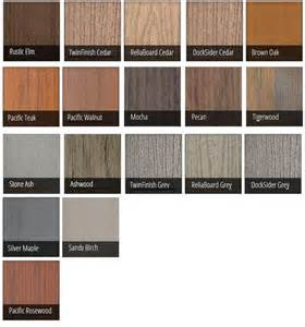 composite decking colors timbertech composite decking