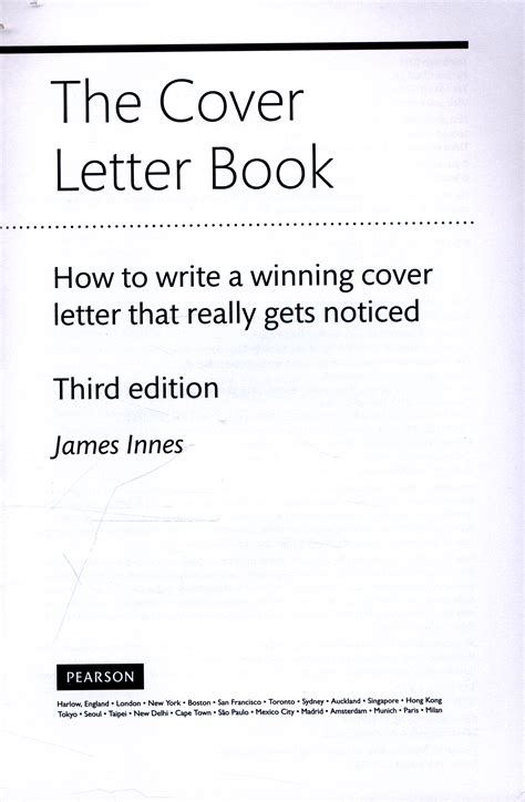 the cover letter book how to write a winning cover