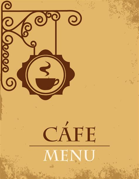 design menu cafe vector vector of vintage cafe menu background art 01 2013 14