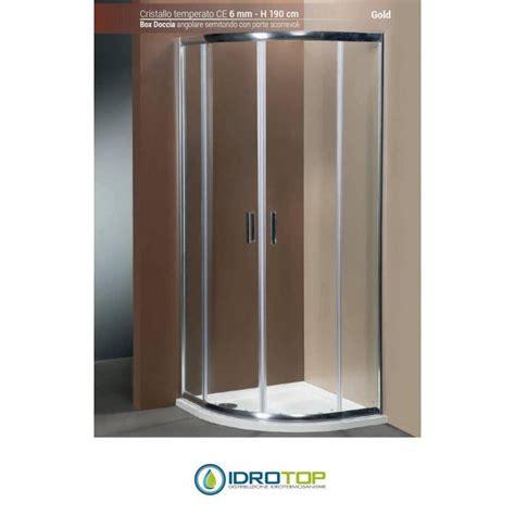box doccia angolare 80x80 box doccia angolare 80x80 semitondo cristallo trasparente