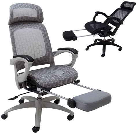 Reclining Office Desk Chair - elastic all mesh reclining office chair w adjustable