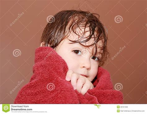 cutting wet hair in the shower after shower stock photo image 29757400