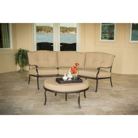 Patio Cushions At Home Traditions 2 Seating Set With Crescent Sofa And