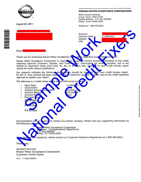 Credit Deletion Sle Letters Here success stories sles of our work nissan deletion