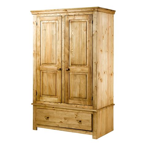 armoires and more armoire en pin bross 233 2 portes et 1 tiroir brush grenier