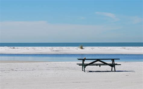 bench on the beach bench on the beach hd wallpaper 2050974
