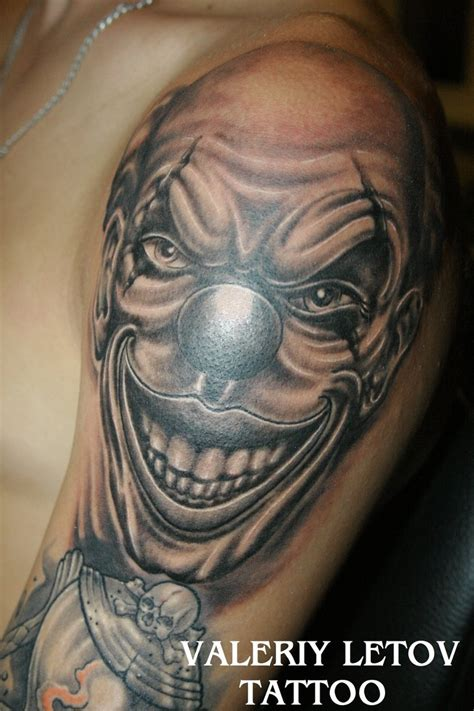 clown tattoos clown by valeriyletov on deviantart