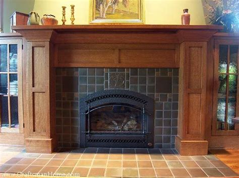 craftsman fireplace tile an elaborate arts and crafts fireplace surround with