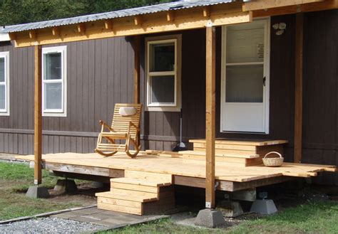 cabin mobile homes with aesthetic design and good comfort what you need to know before designing deck for mobile