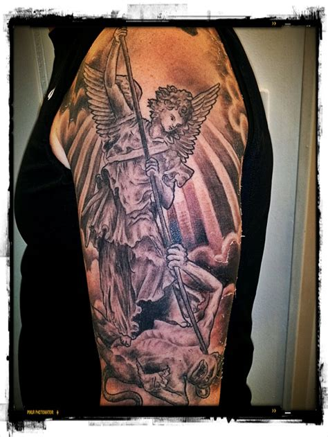 st tattoo michael archangel