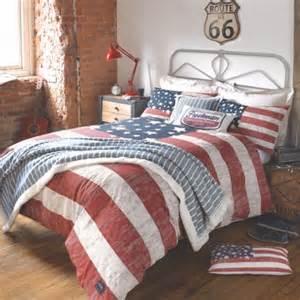 White And Navy Duvet Cover American Freshman Quot Lenox Quot U S A Retro Vintage Bedding