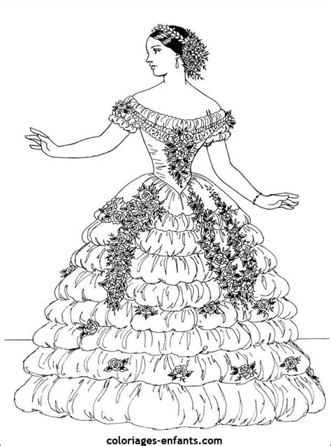vintage dress coloring page 107 best icolor clothing style history images on pinterest