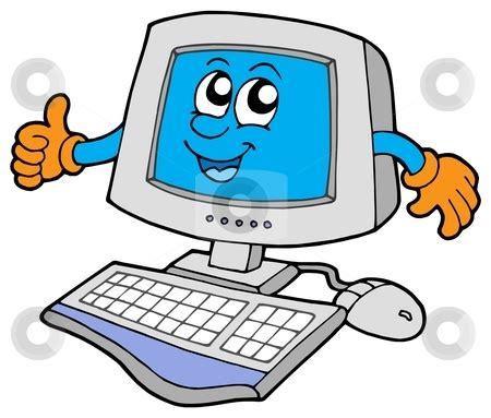 happy computer stock vector