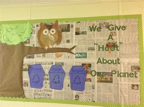 newspaper theme preschool recycling bulletin board bulletin boards pinterest