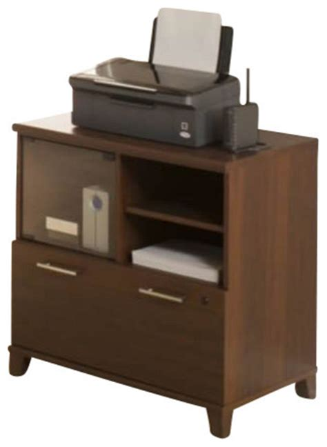 Printer Stand File Cabinet Bush Achieve Lateral File Printer Stand In Sweet Cherry