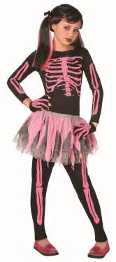 Skeleton Costumes Girls Pink Skeleton Costume