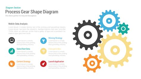 powerpoint themes gears process gear shape diagram powerpoint and keynote template
