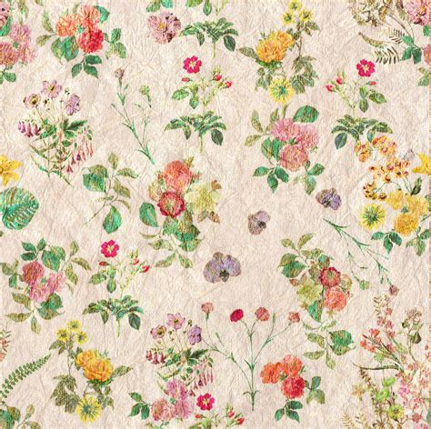 Vintage Flowers Pattern vintage flowers wallpaper pattern free stock photo
