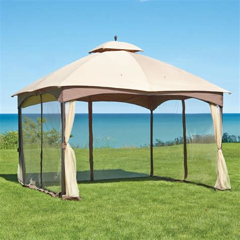Hampton Bay Massillon 10 ft. x 12 ft. Double Roof Gazebo L