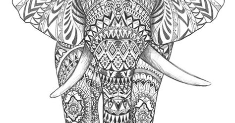 aztec elephant coloring page aztec elephant hand drawing detail graphic art hand