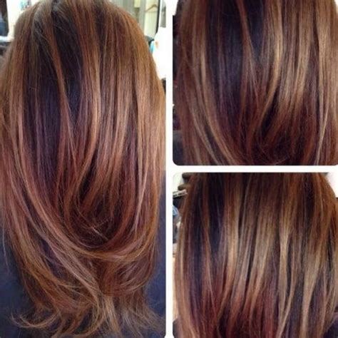 ombre highlights and lowlights for brown hair black hair chestnut highlights chestnut ombre
