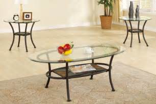 3 Set Coffee Tables 3 Coffee Table Set Elliptical Glass Top With