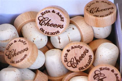 wedding favors personalized wine corks rustic wedding favor