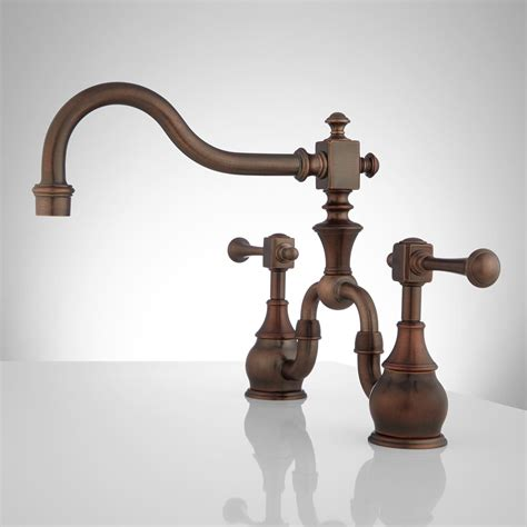 vintage kitchen faucet vintage bridge kitchen faucet lever handles kitchen