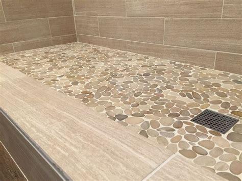 pebble floor bathroom sliced java tan pebble tile shower floor https www