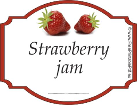 printable jam labels uk strawberry jam label free printable pdf
