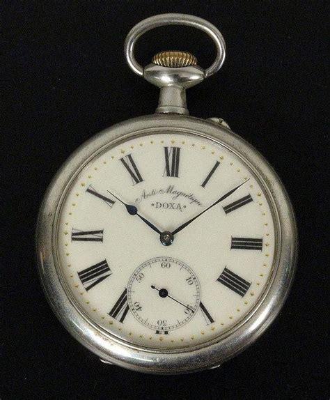 a large doxa pocket ca 1920 metal