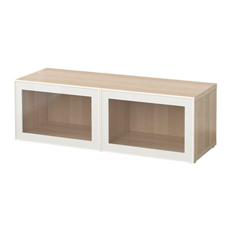 besta glass shelf best 197 shelf unit with glass doors white stained oak