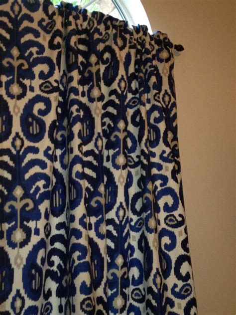 ikat navy curtains 34 best images about for the home curtains on pinterest