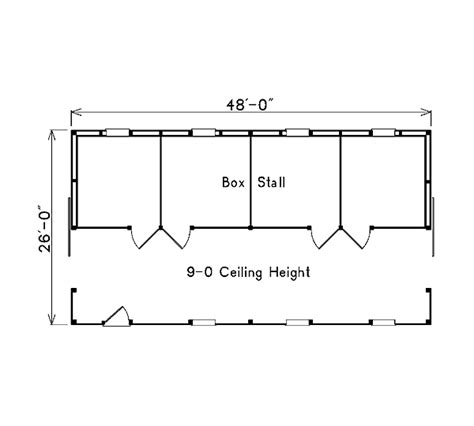 Horse Barn Design Ideas Project Plan 85942 Pole Building Horse Barn With Loft