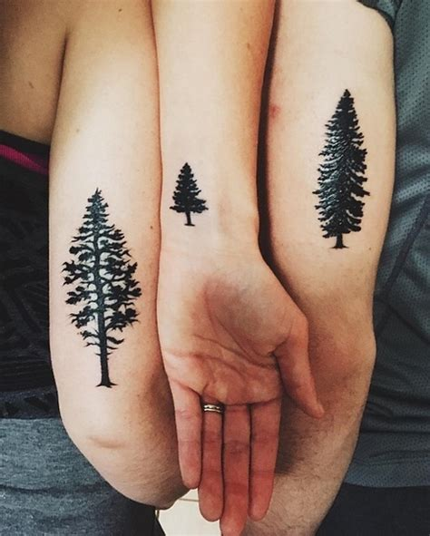 brother sisters trees tattoo idea